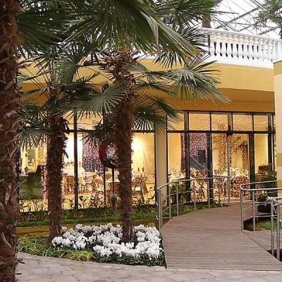Das Palmen-Bistro im NaturaGart Park